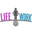 Woman balance life work decision choice vector
