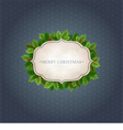 Christmas background with holly leaves vector