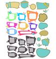 Speech bubbles big set vector