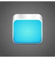 Blank blue app icon vector