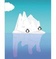 Iceberg and penguin vector