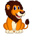 Cute lion cartoon sitting vector