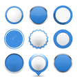 Blue round buttons vector