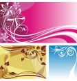 Three backgrounds vector