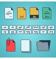 Hand draw doodle sketch set of document file vector