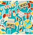Happy birthday party seamless pattern vector