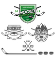 Ice hockey labels badges and design elements vector