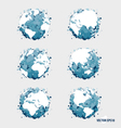 Collection of modern globe vector