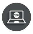 Adults content laptop icon website for adults vector