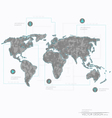 Set elements of infographics world map and informa vector