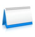 Paper calendar mockup vector