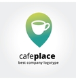 Abstract coffe cup marker for maps logotype vector