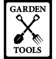 Icon with garden tools silhouette vector