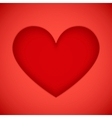 Bright red plastic cutout heart vector