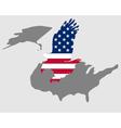 American bold eagle vector