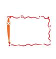 Funny brush frame vector