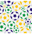 Color soccer seamless pattern vector