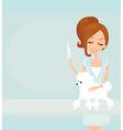 Veterinary animal doctor vector