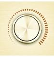Round gold metallic volume knob vector