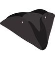 Black pirate hat vector