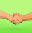 Shaking hands vector