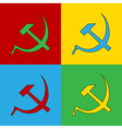Pop art communist symbols vector