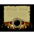 Paper with ornate frame vector
