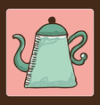 Teapot design vector