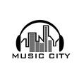 Music city concept design template vector