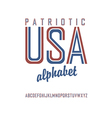 Patriot alphabet vector