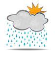 Climate cloud sun and rain vector