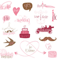 Romantic wedding design elements -for invitation s vector