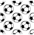 Football or soccer ball seamless pattern vector