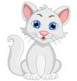 Cute white cat cartoon expression vector