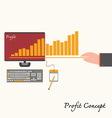 Financial business plan - hand holdingidea concept vector