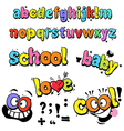 Cartoon funny letters vector