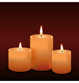 Three candles vector