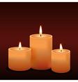 Three candles vector