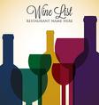 Bright wine list menu cover in format vector