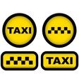 Taxi signs set vector
