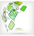Retro abstract square template vector