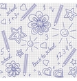 Back to school hand-drawn seamless pattern vector