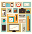 Business flat elements vector
