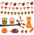 Autumn elements set vector