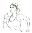Running woman sketch vector