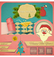 Old christmas and new years postcard vector