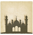 Islamic mosque old background vector