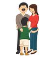 Of a little boy hugging parent vector