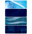Set of blue abstract horizontal backgrounds vector