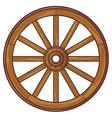 Old wooden wheel vector